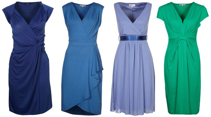 blå fin klänning